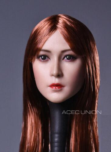 Vendeur 1//6 Asian Beauty Female Head Sculpt B pour Hot Toys Phicen Figure U.S.A