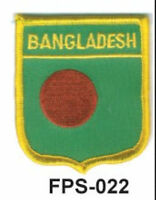 2-1/2'' X 2-3/4 Bangladesh Flag Embroidered Shield Patch