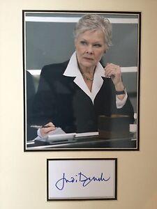 Judi Dench - JAMES BOND ACTRICE - brillant signé couleur affichage GJeKkAxg-09092325-294401428