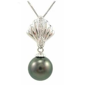 10-11mm-Tahitian-Black-Pearl-Pendant-in-14K-White-Gold-W-Diamond-Pendant