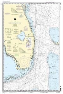 NOAA Chart Cape Canaveral to Key West 43rd Edition 11460