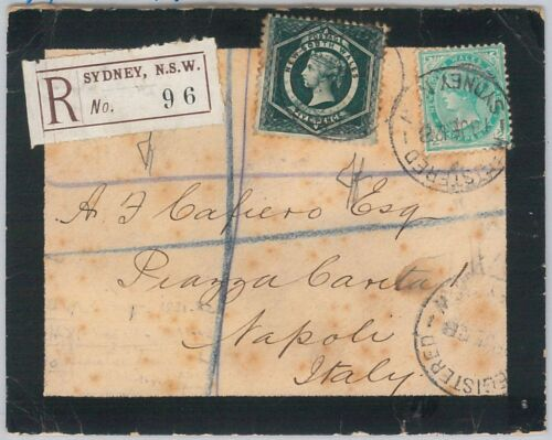 AUSTRALIA NEW SOUTH WALES POSTAL HISTORY REGISTERED mourning COVER 1912