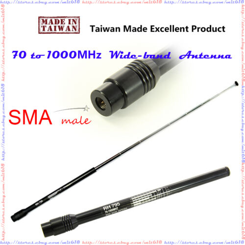 70-1000 MHz Scanner Antenna SMA male for Uniden Icom Alinco BR330T BC346XT