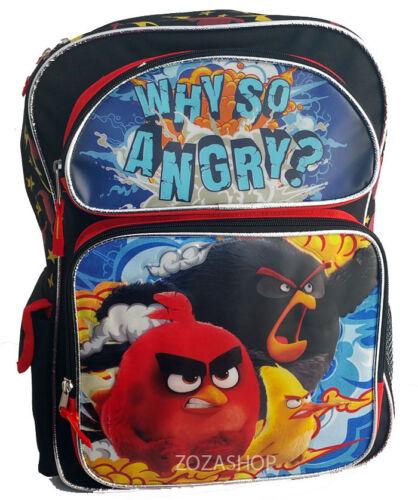 """Angry Birds 16/"""" Grand Sac à Dos Nouveau Sac d/'école sous licence"""