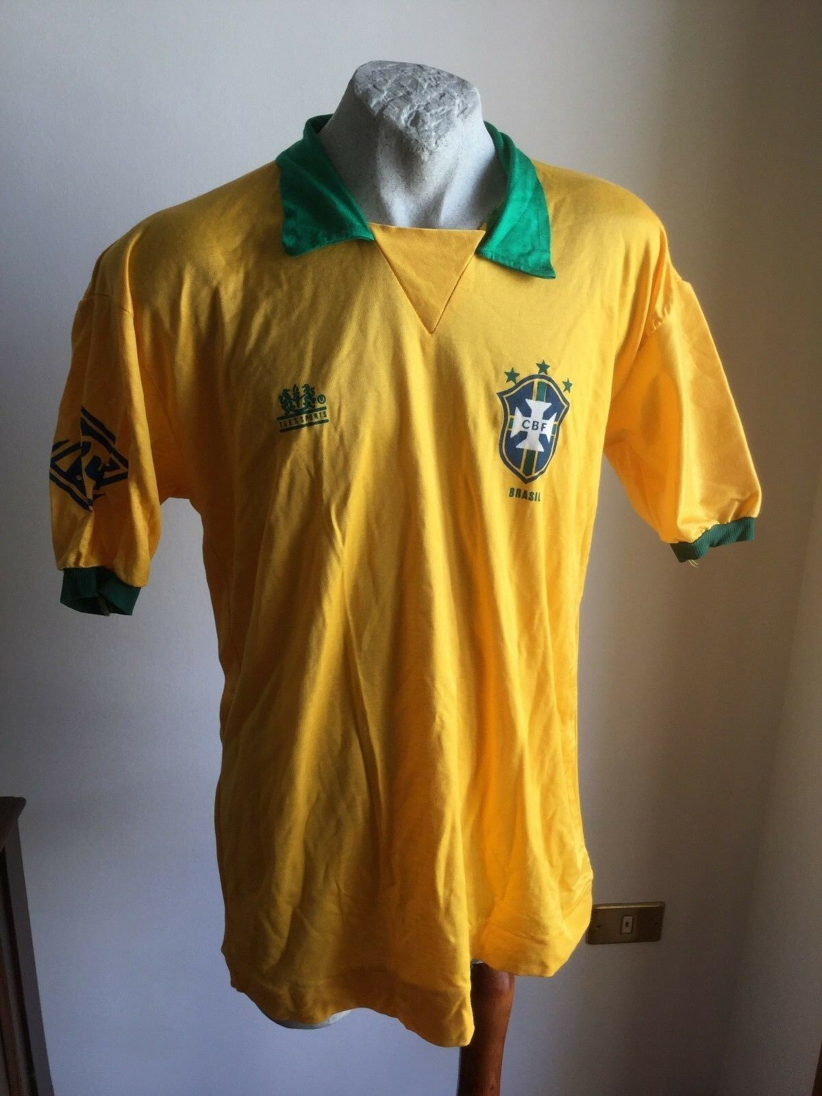 MAGLIA CALCIO BRAZIL 10FOOTBALL SHIRT JERSEY BRASILE TUK'S SPORTS REPLICA