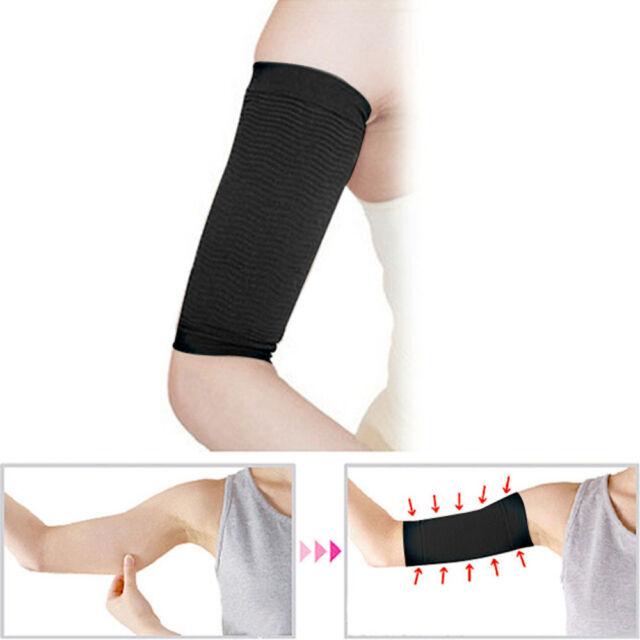 2X Slimming Black Arm Belt Band Toning Control Shaper Calorie Massage Fat Buster