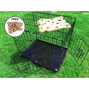 AVC-Small-Medium-24-034-Metal-Pet-Dog-Cat-Transport-Training-Cage-inc-FREE-Bed