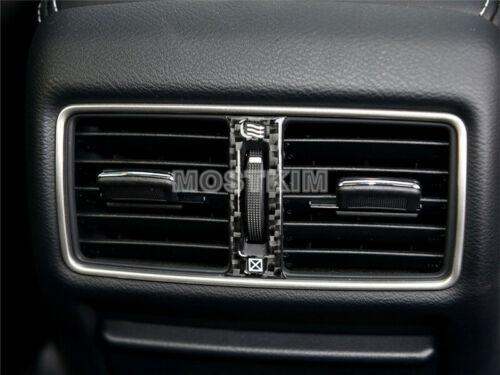 Carbon Fiber Inner Rear Air Vent Outlet Trim Cover For Infiniti Q50 2013-2019
