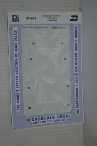 Microscale Decal 87-649 Burlington Northern Freight Cars 1990-1996