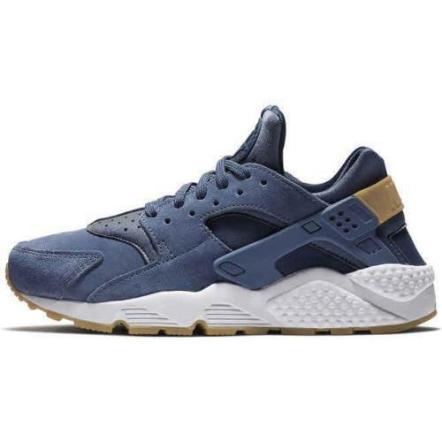 SZ 8 NIKE WOMEN'S AIR HUARACHE RUN SD AA0524-400 BLUE MIDNIGHT NAVY TAN WHITE