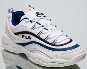 goedkoopste prijs brede selectie groothandel Details about Fila Ray Low Top New Men's Lifestyle Shoes White Blue 2018  Sneakers 1010561-01U