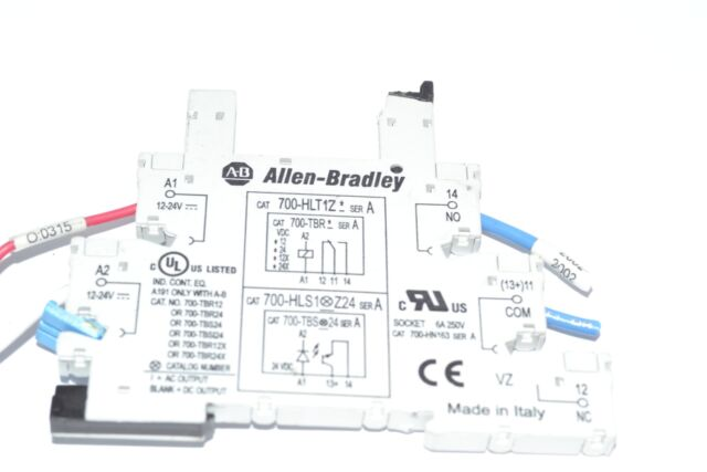 Allen-dley 700-hlt1z24 Relay Electromechanical Output SPDT 24vdc Series on