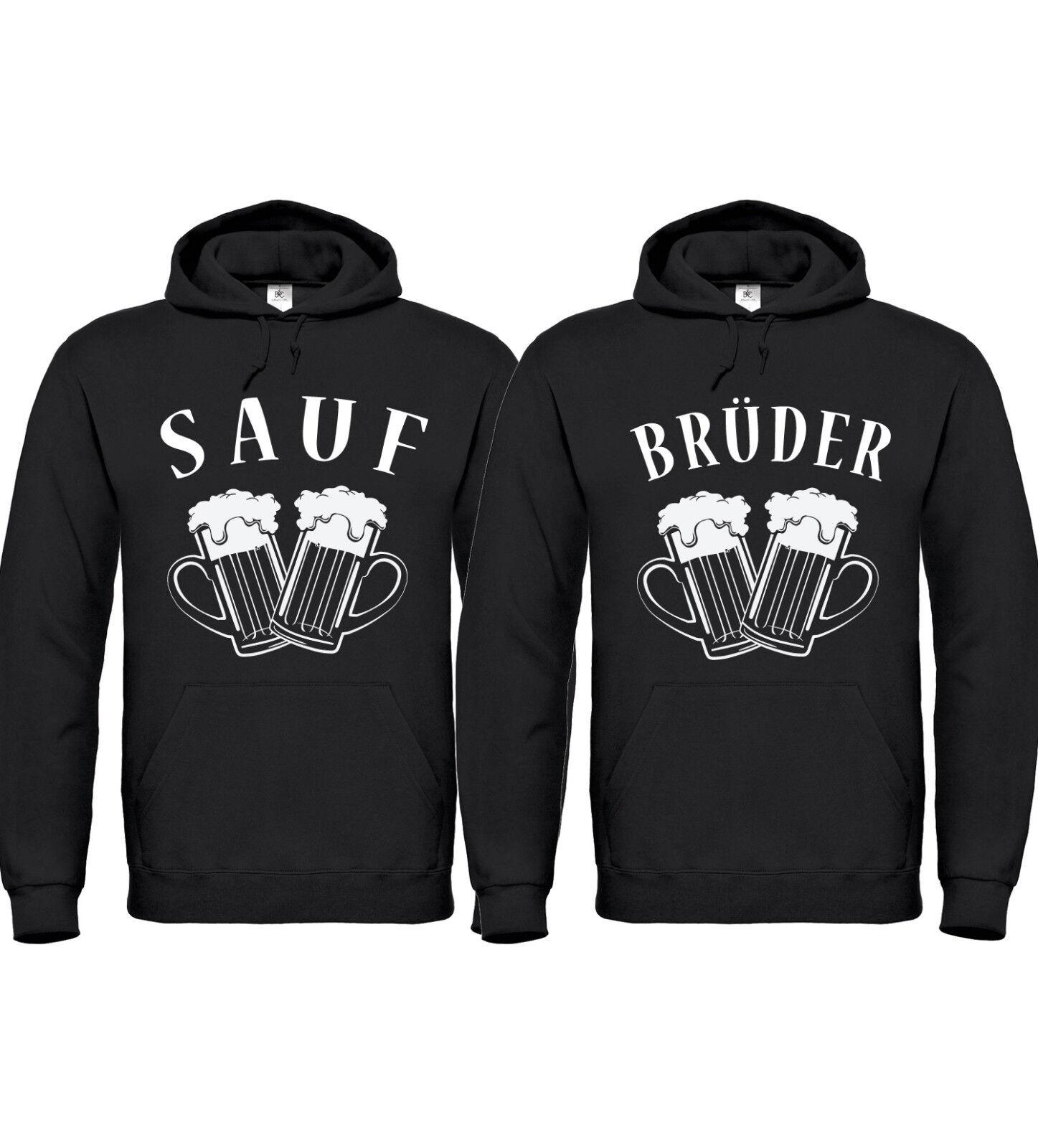 SAUFBRÜDER - Partner Hoodies - Friends Freunde Brüder Bier Alkohol Saufen Party