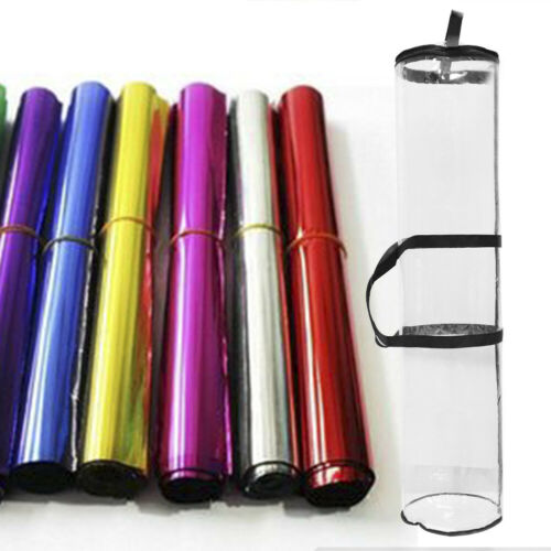 40 Inch Gift Wrapping Paper Storage Organizer Bag 24 Rolls Clear Bag Zipper Tidy