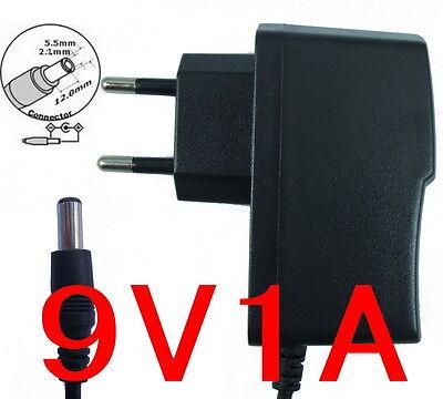 High Quality AC Adapter DC 9V 1A Power Supply Charger EU plug 5.5mm x 2.1mm 9W
