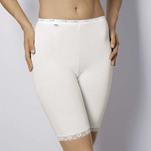 Sloggi basic long jambe longue culotte Slips Blanc Bnwt