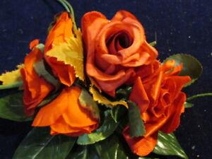 Vintage-Millinery-Flower-Collection-Red-Rose-Buds-2-3-034-w-Velvet-Shabby-H2810