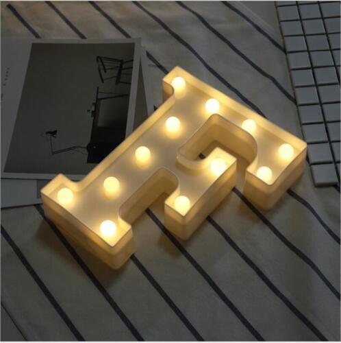 LED Alphabet Letter Lights Light Up Big Standing Wedding Party Confession Signs