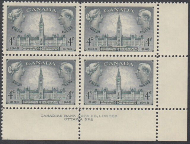 Canada - #277 Responsible Government Plate Block #2 - MNH