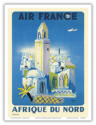 morocco tunisia algeria FRENCH AIRLINE classic vintage TRAVEL POSTER 24X36
