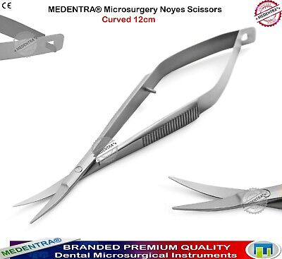 Curved or Straight Stainless Steel Blade Micro Scissors Spring Loaded Sewing Etc