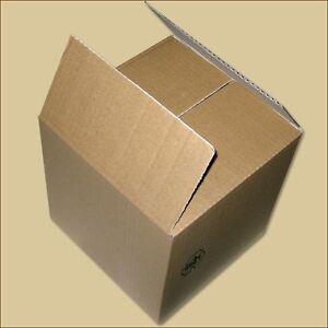 Karton Faltkarton Faltschachteln 200 x 200 x 200 mm einwellig