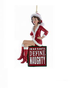 image is loading ksa naughty lady w santa hat 034 dear - Define Christmas