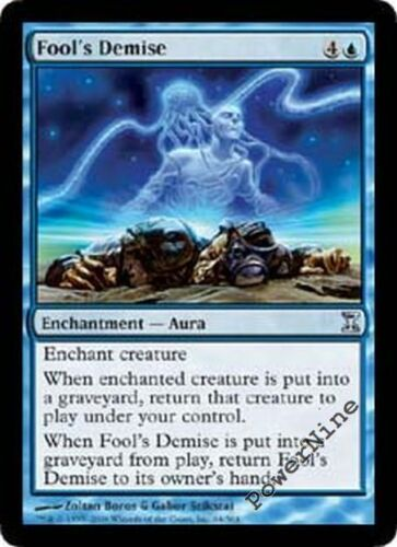 1 FOIL Fool/'s Demise Blue Time Spiral Mtg Magic Uncommon 1x x1
