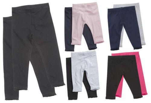 Baby Girls Infant Toddler 2 Pack Soft Leggings Jeggings Trouser Pants With Frill
