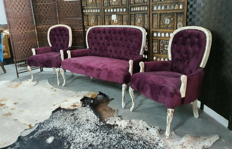 Queen Anne 3pc Lounge Suite, Newly Reupholstered, Velvet, Available, 082 624 5168