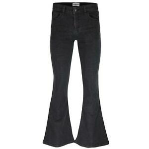 NEW-60s-70s-Denim-BELL-BOTTOM-Bellbottoms-Flared-FLARES-Jeans-ROCK-BLACK-MC249