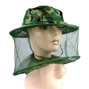 Mosquito Insect Head Net WITH HAT INC Wasp Bug Hat Mesh Travel Camping Fishing OqB8zZl6-07191311-394777566