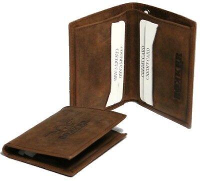 Fornito Rokker Every Day Wallet Marrone Portafoglio Portafoglio Portafoglio Vera Pelle-mostra Il Titolo Originale