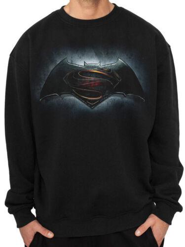 Official Batman Vs Superman Classic Logo Unisex Jumper Sweatshirt Top Sweats
