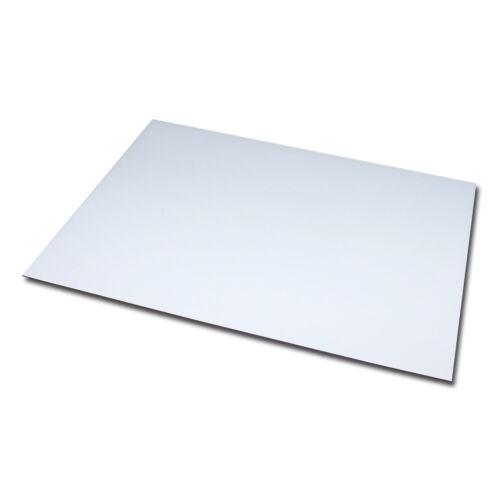 1x Magnetfolie DIN A4 297x210 mm 1,2 mm Magnet Platte Schild Anisotrop Weiß matt