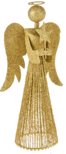 Details About Christmas Tree Topper 33cm Tall Gold Fairy Angel Decoration Treetop Ornaments