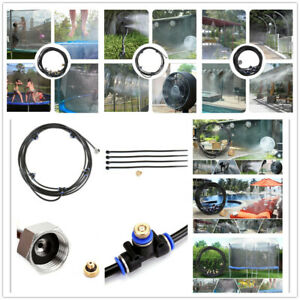 16-75FT Outdoor Patio Water Mister Mist Nozzle Misting Cooling System Fan Cooler