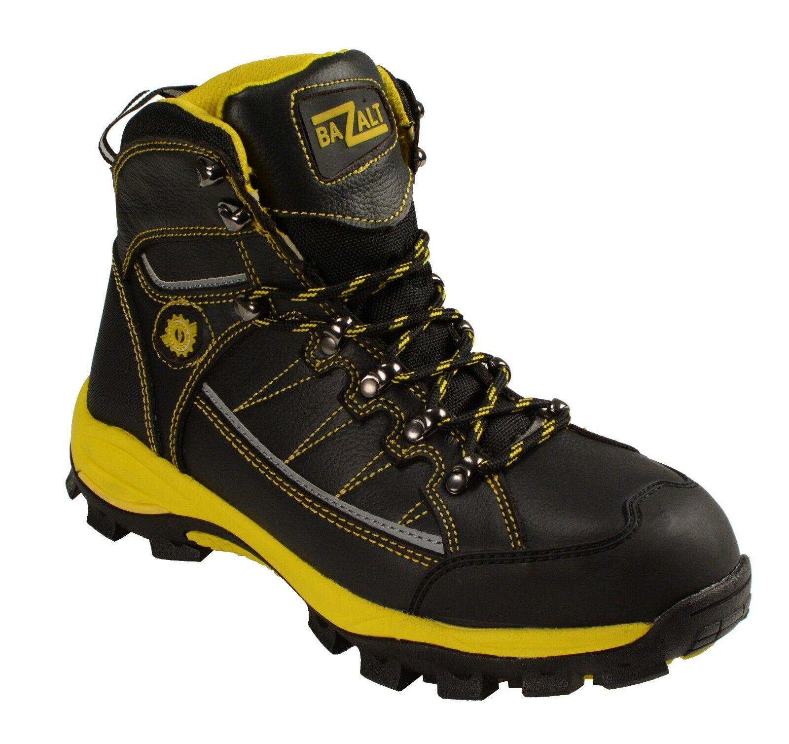 Men's Black & Yellow Waterproof & Frost Proof Leather Boots