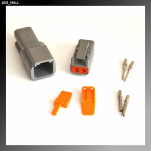 Deutsch DTM Genuine 2-Pin Connector Kit 20-22AWG Solid Contacts, USA