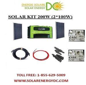 solar panel kit panneau solaire 200w 200 w watt 2 100 w. Black Bedroom Furniture Sets. Home Design Ideas