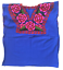 Floral-Mexican-Blouse-Embroidered-Authentic-Handmade-Cotton-Blue thumbnail 3