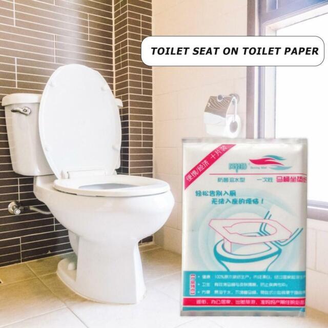 10pcs/Set Disposable Toilet Seat Cover Home Travel Bathroom Toilet Paper Pad