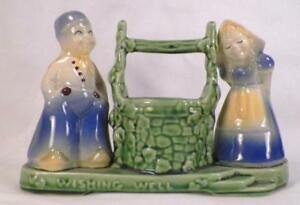 Shawnee Wishing Well Planter Art Pottery Dutch Boy & Girl Vintage #710 Nice