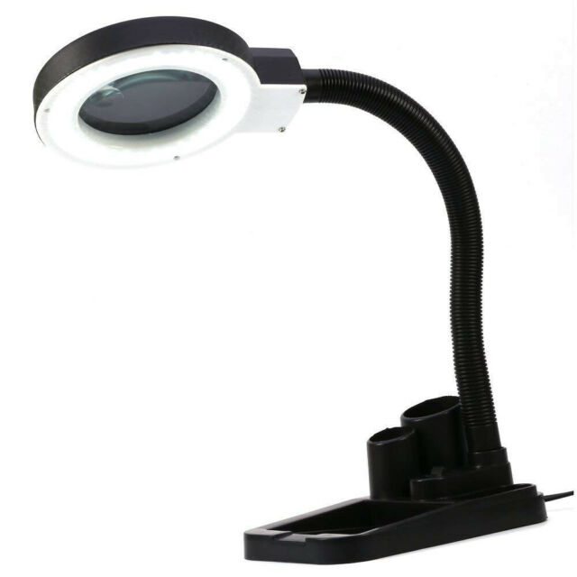 Magnifying Crafts Glass Desk Lamp With 5X 10X Magnifier 40 LED Lighting AU Plug