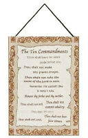 The Ten Commandments Christian Tapestry Bannerette Wall Hanging