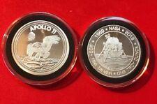 1969-2019 Apollo 11 50th Anniversary Commemorative 1oz .999 Silver BU In Capsule