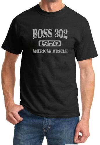 1970 Ford Mustang Boss 302 American Muscle Car Color Design Tshirt NEW Free Ship