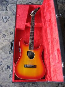 1985 kramer ferrington electric acoustic guitar kfs1 kfs2 cherry sunburst finish ebay. Black Bedroom Furniture Sets. Home Design Ideas