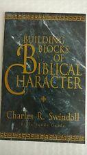Swindoll Bible Study Guide: Building Blocks of Biblical Character (1994, Paperba