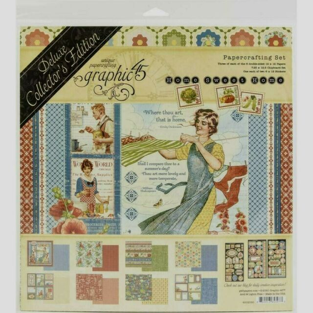 """Graphic 45 Home Sweet Home Deluxe Collectors Edition 12 x 12/"""""""